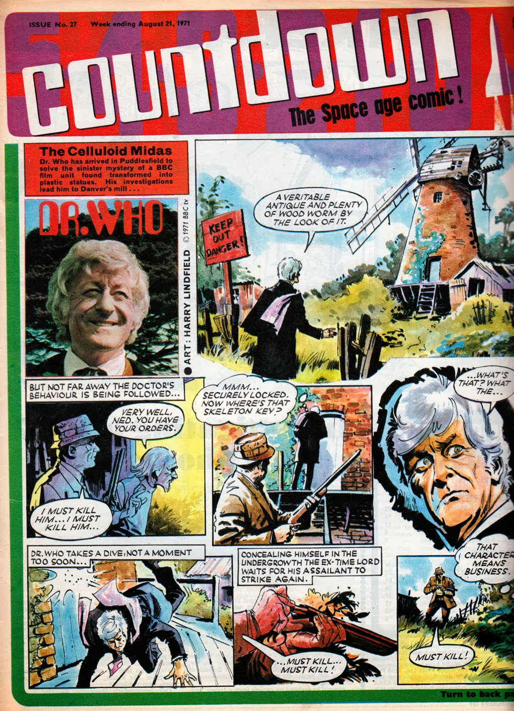 Harry Lindfield's Dr Who cover for Countdown comic