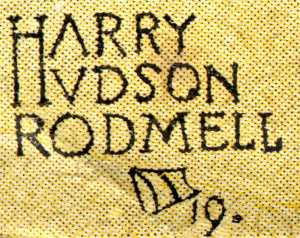 Harry Hudson Rodmell signature