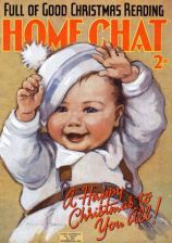 Margaret Banks drew this charmer for Home Chat magazine in 1938. Note the baby is wearing reins