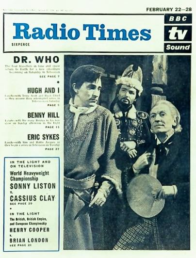 The first Radio Times cover showing Dr Who in February 1964