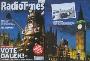 The return of the Daleks to Dr Who in 2005 sparked this gatefold cover for the Radio Times
