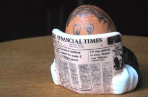 Financial Times eggcup photo: Pearson owned the FT from 1957 to 2015