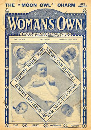 The earlier version of Woman's Own, from 13 December 1913, published by WB Horner