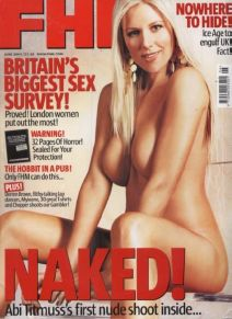 FHM June 2004. But what's happened to the nipples on Abi Titmuss?