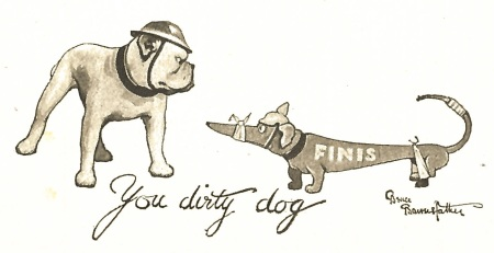 Captain Bruce Bairnsfather's dirty dog ending from Fragments from France (volume 4)