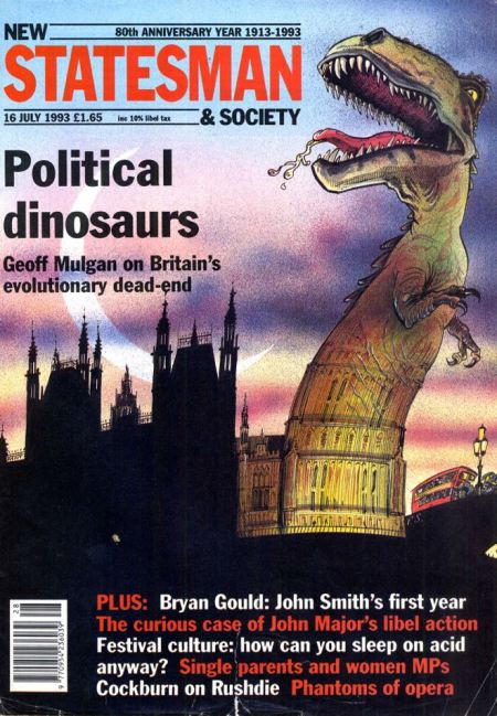 New Statesman hits back: the cover the week after Major settled the case (16 July)
