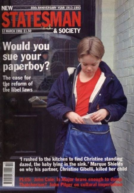 Paperboy threatened by libel laws: New Statesman of March 12
