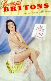 Beautiful Britons glamour magazine first issue cover from November 1955