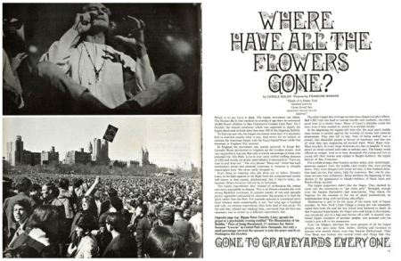 Where have all the flowers gone - Look of London, 25 November 1967 Hippies
