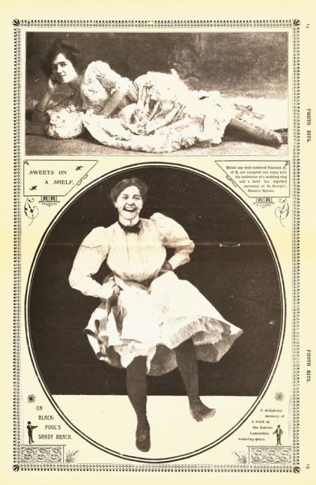Racy centre spread pin-up in Photo-Bits in 1902 (October 18)