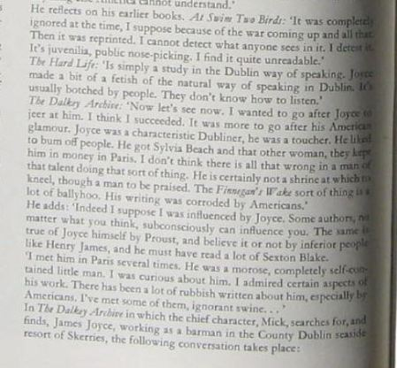 Excerpt from Brian Nolan interview talking about James Joyce