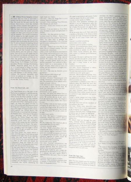 Final page of Michael Wale profile of Brian Nolan - Flann O'Brien - in Town, 1965