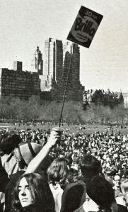 Brillo hippie happening in Central Park 1967 by Francine Windham