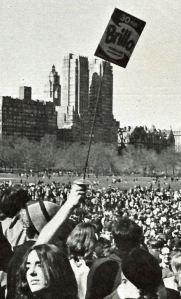 Brillo hippie happening in Central Park 1967 by Francine Windham