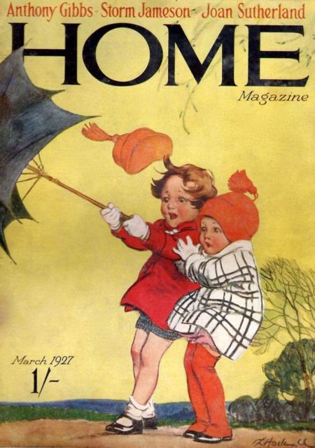 Lilian Hocknell and two of her charming children on the cover of Home magazine in March 1927