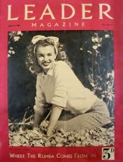 Leader magazine led the world in putting Marilyn Monroe on its cover in April 1946