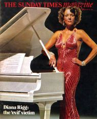 Evil victim: Diana Rigg on the cover of the Sunday Times Magazine, 28 February 1982