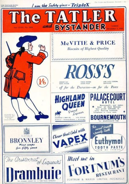 And even Tatler has swallowed upon of its venerable rivals. This issue is from 1943 but the takeover took place in October 1940