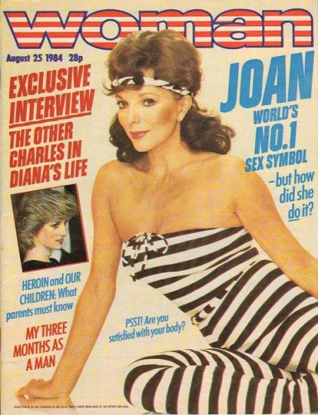 Joan Collins was the world's greatest sex symbol according to Woman magazine in 1987
