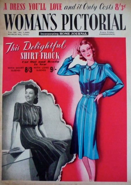 Woman's Pictorial magazine cover from 1940 -wartime rationing had already started to bite