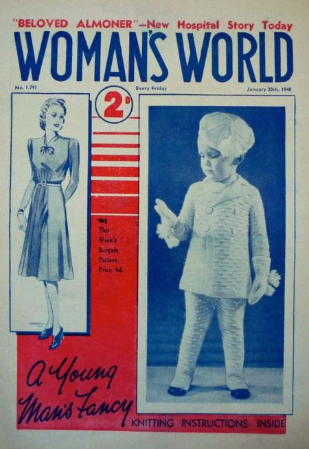 The real thing - Hocknell's children come to life on the cover of Woman's World in January 1940