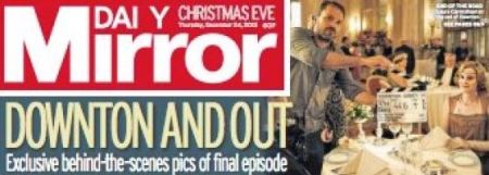 Daily Mirror front page 2015 December 24