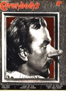 José Ferrer as Cyrano de Bergerac on this Everybody's magazine cover from 10 October 1951. The design has a 3D effect, with the nose appearing to stand proud of the page