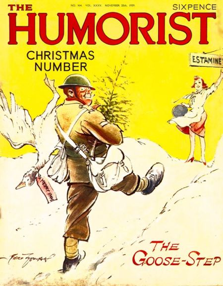 The Goose Step: Christmas number of the Humorist for 1939 with a Bert Thomas cover