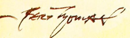Bert Thomas's signature from the Humorist, 25 December 1939