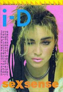 Madonna cover from i-D dated March/April 1984