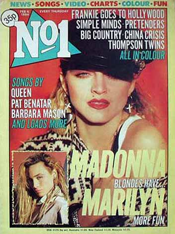 The first Madonna magazine cover - No 1 from 4 February 1984