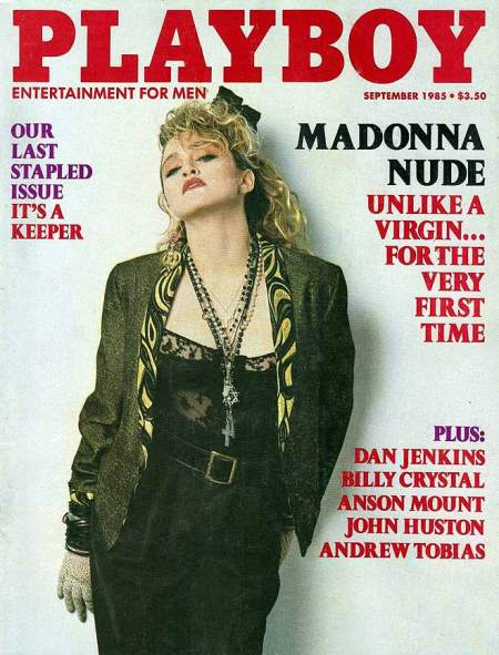 Madonna was pretty quick in getting her kit off for Playboy in September 1985