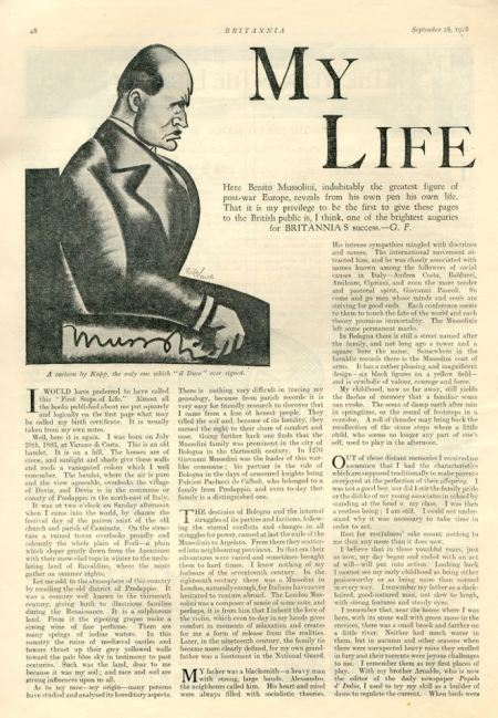 My Life by Benito Mussolini
