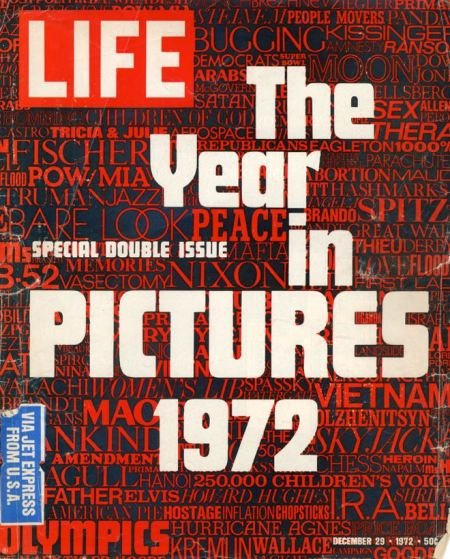 Last issue of US picture weeklyLife(29 December1972)