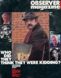 The Observer Magazinecover shows Alexei Sayle as the Hitler diaries forger inthe 1991 TV seriesSelling Hitler
