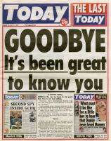 Last issue of Rupert Murdoch's Today newspaper (17 November 1995)