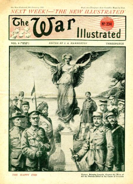 Last issue of Amalgamated Press's War Illustrated on 8 February 1919