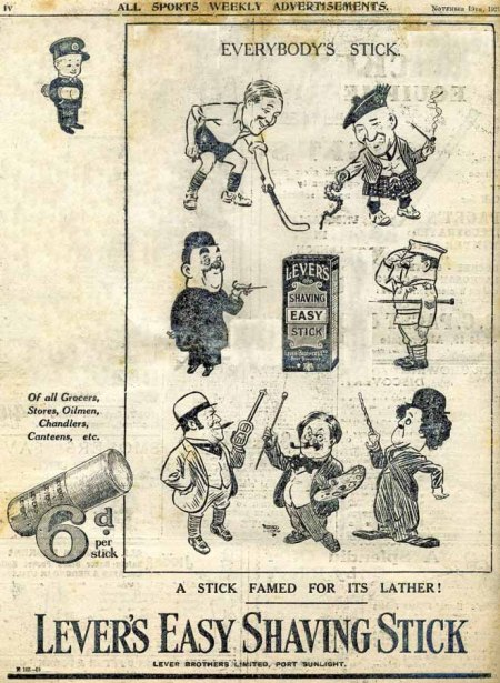 Alfred Leete 1927 Lever advert on the back page of All Sports magazine