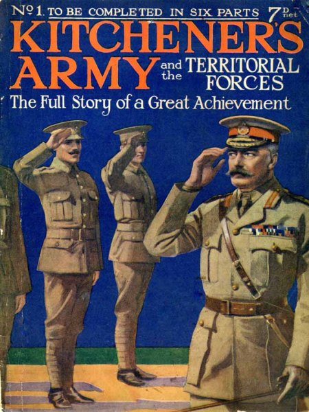 First issue of Kitchener's Army & the Territorial Forces from 1915 written by Edgar Wallace