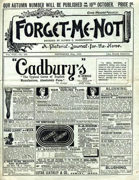 Alfred Harmsworth's Forget-Me-Not was founded in 1891