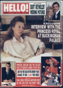 The first issue of Hello from 21 May 1988 with Princess Anne on the cover