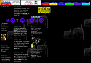 Hot Wired website from 12 December 1997