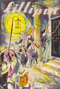 Searle's St Trinian's on the cover of Lilliput in December 1949