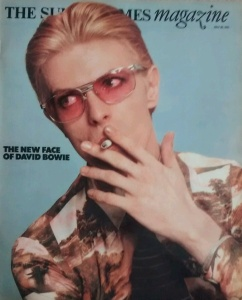 The Sunday Times Magazine cover of Davie Bowie from 1975 has been popular on eBay - with prices ranging from £5 to £35