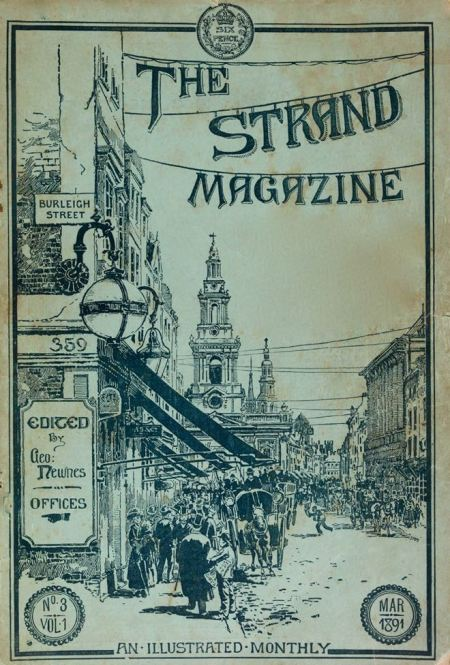 Strand magazine front cover design from March 1891 by George Charles Haité