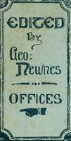 Hoarding points to the George Newnes offices in Burleigh Street