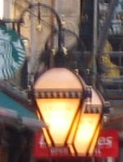 Modern-day street lamps in The strand