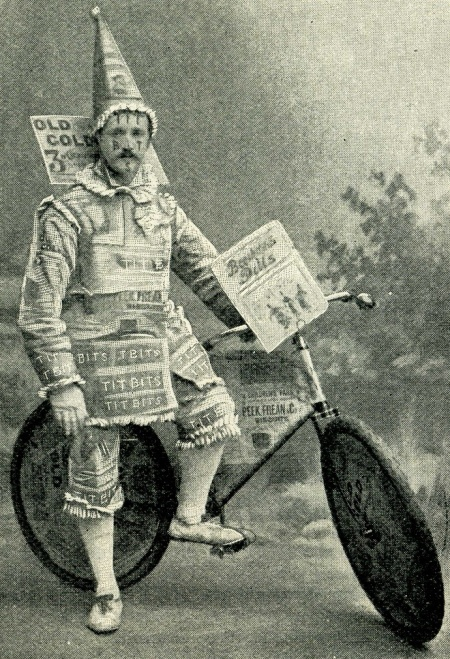 James Wilson in his prize Tit-Bits costume, probably in the 1890s