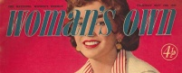 Front cover title from Woman's Own from 19 May 1955
