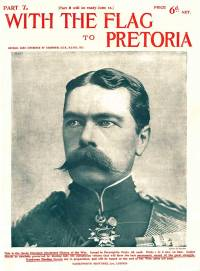 Kitchener on the cover of a part work about the Boer War in 1900